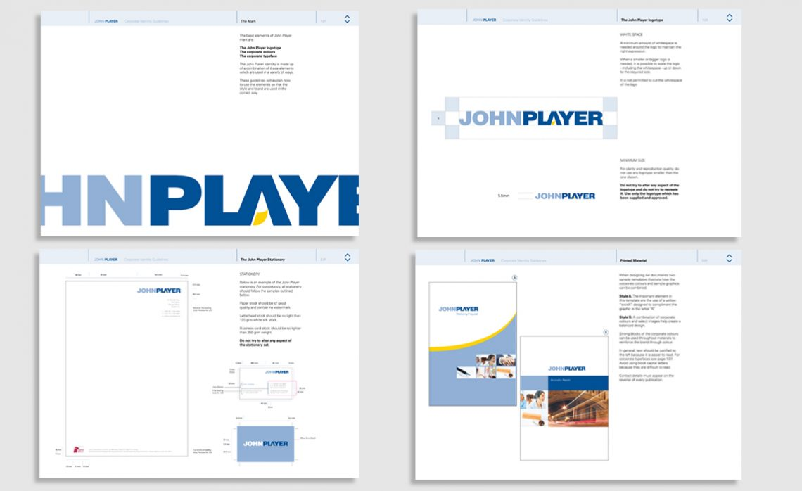 John Player Corporate Guidelines
